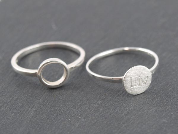 Ringe Silber Kreis mit GRavur