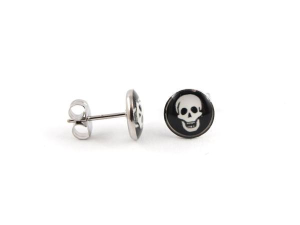 Ohrringe aus Edelstahl mit Totenkopf