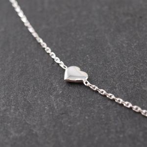 Feines Silberarmband Karabiner kleines Herz
