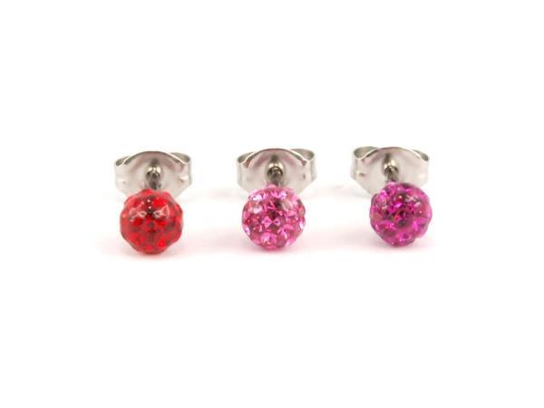 Feuerball Ohrstecker Studex hypoallergen rot - rosa -pink