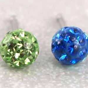 Ohrstecker Fireball von Studex Blau Grün