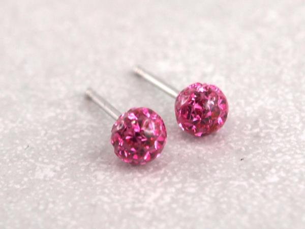 Ohrring aus Chirugenstahl Fireball viele Farben rose