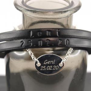 Partnerset Marc und Silberarmband oval Geburtsgeschenk 2