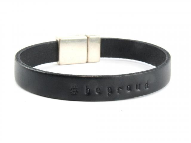 Pride, Armband aus Leder mit Magnetverschluss, beproud