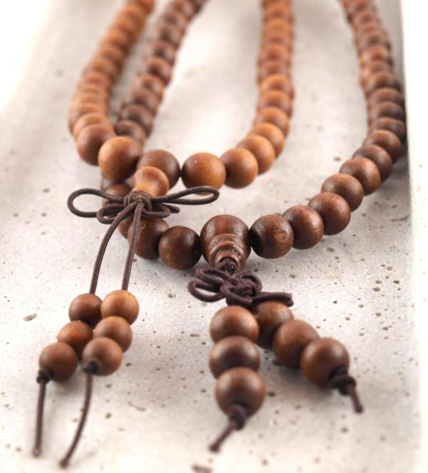 Mala Gebetsketten aus Holz-Sandelholz
