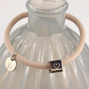 Nappaleder Armband mit Gravur Wuerfel viele Farben rose Muttertagsgeschenk