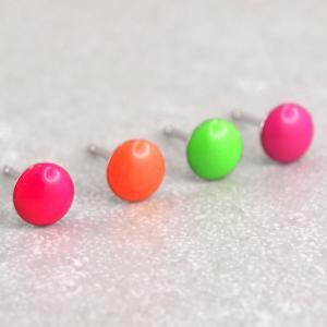 NEon Ohrringe Diverse Farben Hypoallergen studex