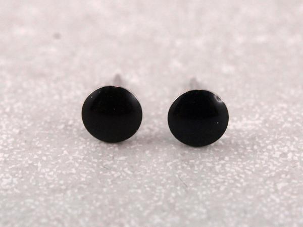 Ohrstecker Allergiker geeignet schwarz rund Studex_