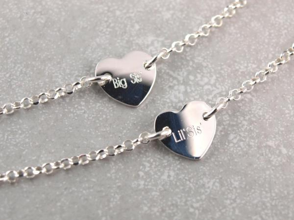 Armband mit Gravur Herz Silber groeßenverstellbar die geschenkidee BFF