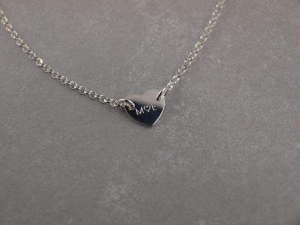 Gravurarmband mit Herz aus Silber mit Wunschtext Gravur