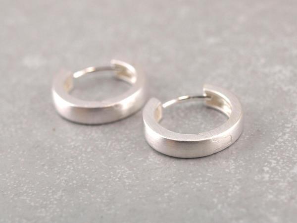Kreolen aus 925er Silber 13 mm klappbar (2)