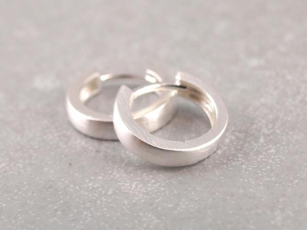 Kreolen aus 925er Silber 13 mm klappbar 3