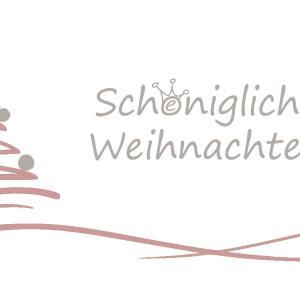 von Hand geschriebene Weihnachtskarte schönigliche Weihnachten
