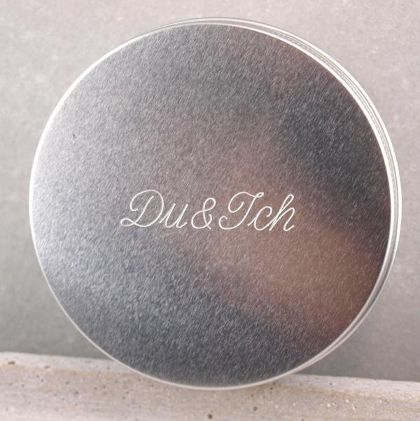 Dose Alluminium Du und ich Schreibschrift