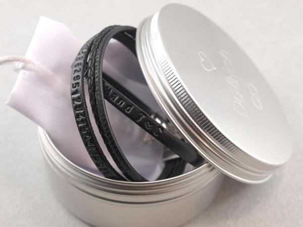 Dose Aluminium Schraubverschluss mit Gravuroption Verpackung Geschenkidee Du&Ich