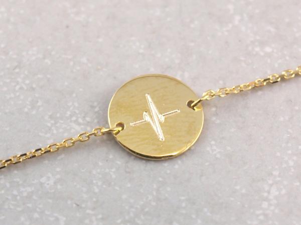 echt goldenes Armband mit Herzschlag romantisches Geschenk