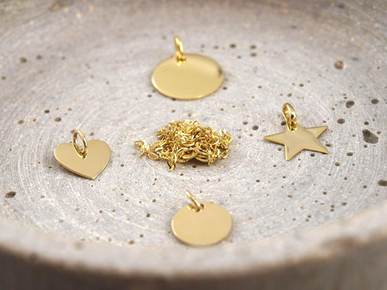 Echt Gold 333 Anhaenger mit Kette
