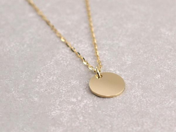 Echt Gold Anhaenger 10 mm rund