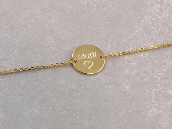Echt goldene Kette mit Gravur-Option 333er Gold Mama Geschenkidee