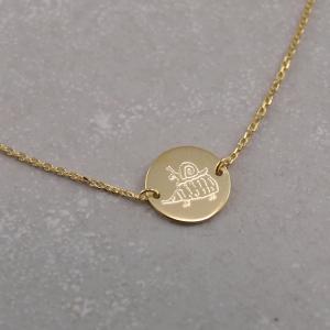 Echt goldenes Armband mit individueller Gravur schnecke und Igel