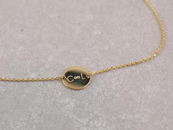 Echt goldenes Armband oder Kette mit Gravuroption