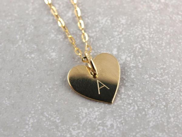 Herz Anhänger mit Gravur-Option, echt 333er Gold, 10 mm