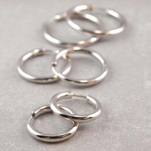 Silber Kreole drei Groessen, klappbar, scharnier 2