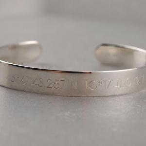 Armspange breit aus Silber mit Gravu Option im SET Freunschaftsarmband die Geschenkidee