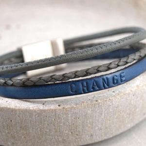 Charlie Multicolor Royalblau und Grau