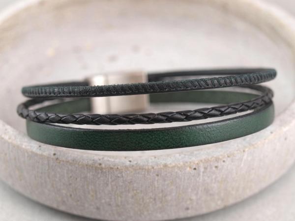 Multicolor Charlie mit Edelstahlmagnetverschluss gruen-schwarz