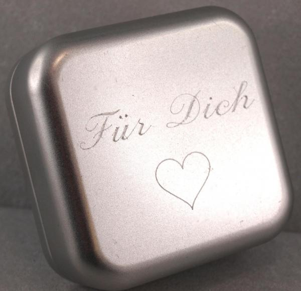 Geschenkdose mit Gravur Schmuckkistchen das Geschenk individuell verpackt fuer Dich