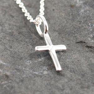 Kleiner Kreuzanhaenger, 925er Silber