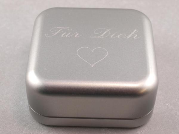 eschenkdose mit Gravur Schmuckkistchen das Geschenk individuell verpackt abgerundete Ecken Fuer Dich Herz