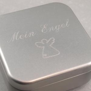 eschenkdose mit Gravur Schmuckkistchen das Geschenk individuell verpackt abgerundete Ecken mein Engel