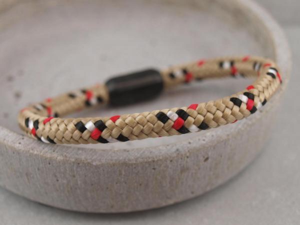 Ari Blackedition Segeltau Armband mit Gravur Option beige