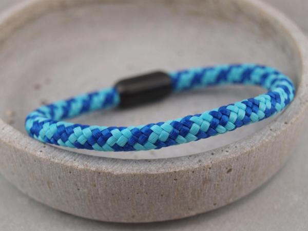 Ari Blackedition Segeltau Armband mit Gravur Option hellblau