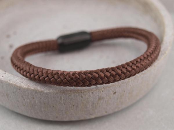 Ari Blackedition Segeltau Armband mit Gravur Option braun