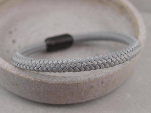 Ari Blackedition Segeltau Armband mit Gravur Option hellgrau