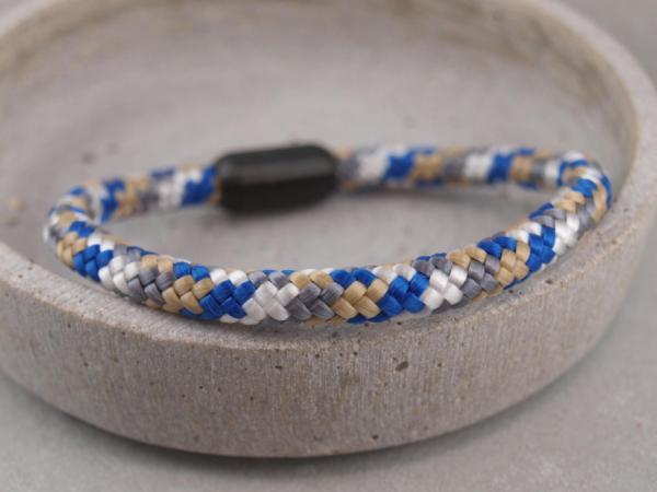 Ari Blackedition Segeltau Armband mit Gravur Option royal weiss beige
