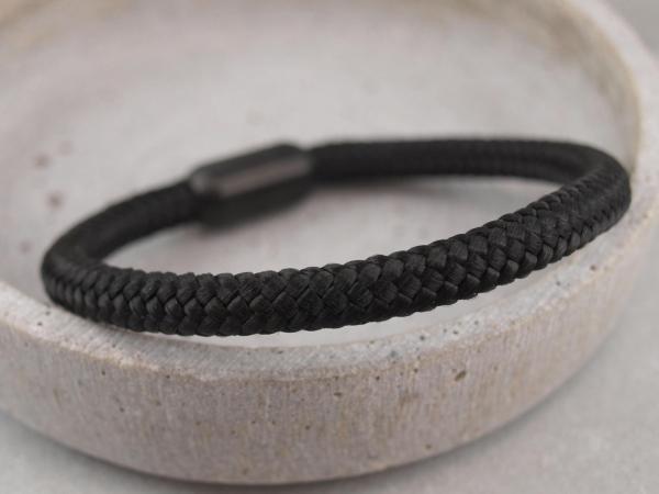 Ari Blackedition Segeltau Armband mit Gravur Option schwarz
