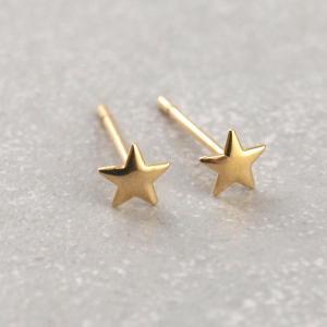 Echt goldene Sternen Ohrstecker 333er Gold_