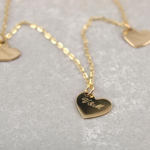 Familienkette mit drei Anhaengern, Echt Gold, Gravur moeglich, drei Herzen