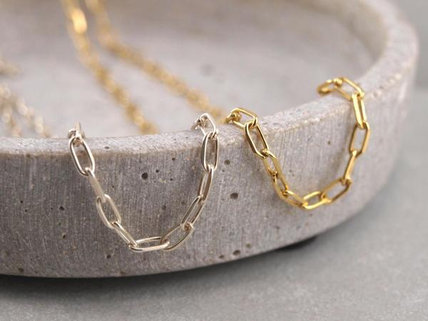 Gliederkette 925er Silber oder vergoldet