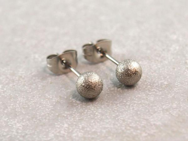 Glitterohrring Edelstahl Perle 5 mm (2)