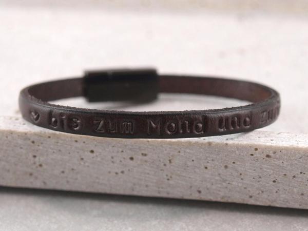 Nici Armband schmales Leder in Black Edition Farbe dunkelbraun