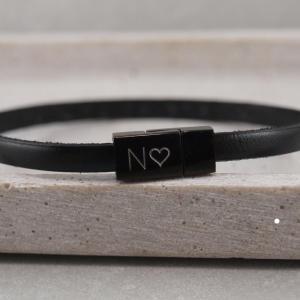 Nici Black Edition mit Gravur schwarzes Leder