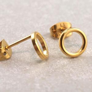 Titan Ohrstecker Kreis 23 Grad gold