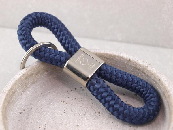 Schlüsselanhänger Segeltau in der Farbe Blau
