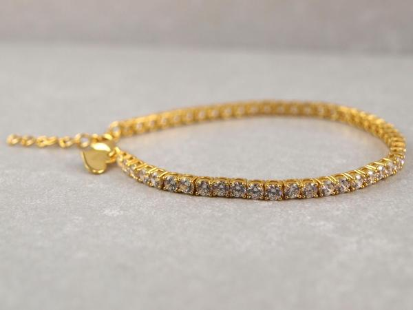 Tennisarmband gold