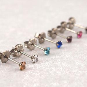 Titanohrstecker Ohrring antiallergisch nickelfrei viele Farben 3 mm__